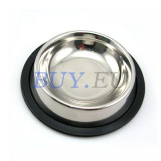 New Stainless pet Dog cat Food Water Bowls Dish