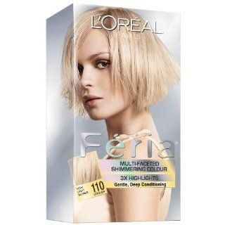 LOreal Feria Shimmer Hair Color   110 Starlet (Very Light Beige Blonde