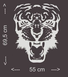 A304 Tribal Tiger Motorhauben Auto Aufkleber Sticker