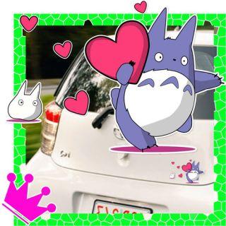 Totoro Herz Heart Auto / Wand Aufkleber Car Sticker 05