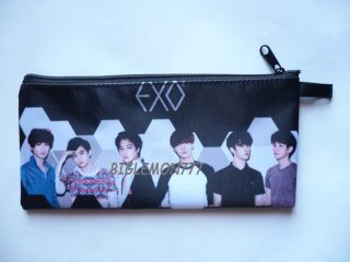 EXO K Korean Boy Band Zipper Pen Pencil Case Bag Pouch P1