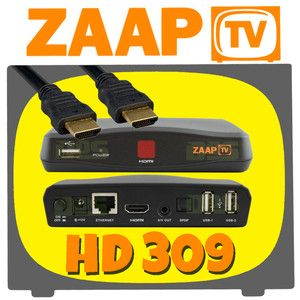 ZaapTV HD 309 IPTV Receiver Arabic Turkish Greek Channels Zaap TV+Wi