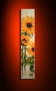 SABINE SCHRAMM Sonnenblumen Bild Acryl Leinwand 30x150