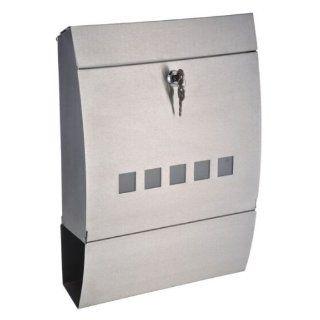Designer Briefkasten aus Edelstahl rostfrei Nr. 237, Maße: 40x31x10