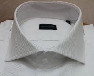 Camicia uomo Bagariny sartoriale cotone Royal/1 bianco slim fit