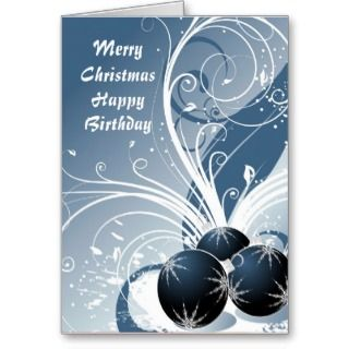 Christmas and happy birthday greeting cards for those celebrating a