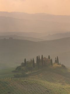 Landscape Near San Quirico DOrcia, Tuscany, Italy, ope Photographic Print by Patrick Dieudonne
