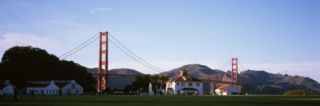 Crissy Field and Golden Gate Bridge, San Francisco, California Wall Decal by Panoramic Images
