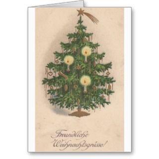 Christmas card freundliche weihnachtsgrusse vintage german christmas