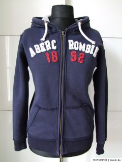 ABERCROMBIE & FITCH Sweat Jacke HOODIE Kapuzenpullover Shirt SECOND