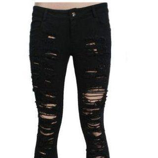Hose Trousers Pants Rockabilly Punk Rave V Kei zerrissen Loch Gothic