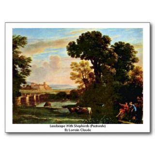 Landscape With Shepherds (Pastorale) Post Card