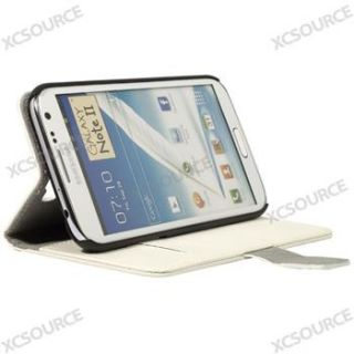 New PU Leather Case Cover white Wallet for Samsung Galaxy Note 2 II