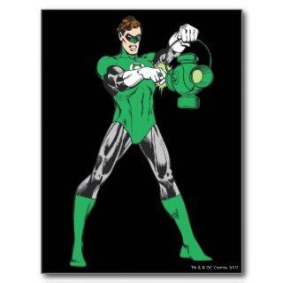 Green Lantern with Lantern Postcard