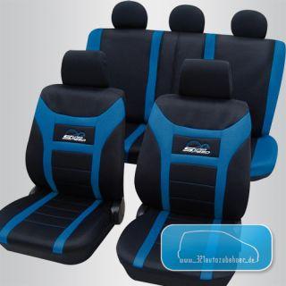 Universal Auto Sitzbezüge / Schonbezüge SUPER SPEED schwarz / blau