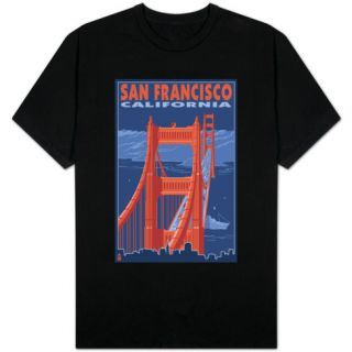 San Francisco, California   Golden Gate Bridge T shirts