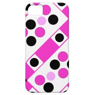 Pretty Pink White & Black Designer iPhone 5 Case