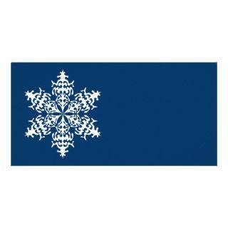 Cristales de hielo blancos de Slowflakes Tarjetas Fotográficas de