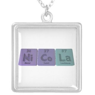 Nicola as Nickel Cobalt Lanthanum Necklaces