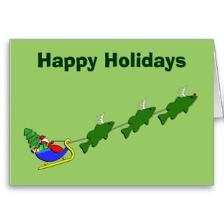 Funny Bass Fishing Christmas Card