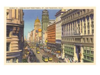 Market Street, Cable Cars, San Francisco, California Posters