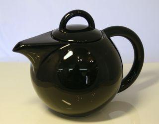 ASA Grande Teekanne schwarz mit Einsatz 1,2 L Porzellan NEU
