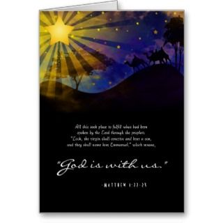 Three Wise Men Bible Verse Christmas Card