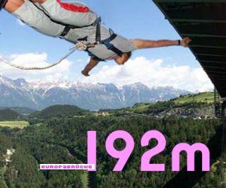 Bungee Jump Europabrücke / Bungy Jump Europabrücke 192m mit DVD