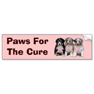 Australian Shepherd Breast Cancer Bumper Sticker