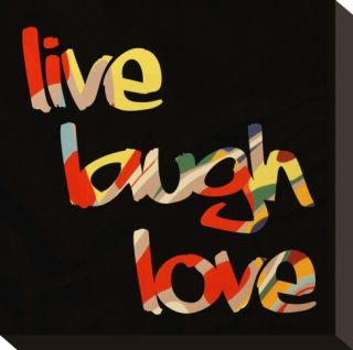 Live Laugh Love I Stretched Canvas Print by Irena Orlov