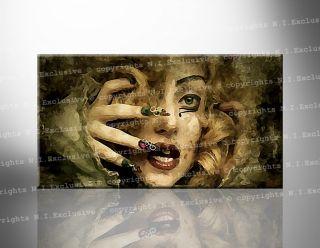 RAR LADY GAGA Leinwand Bild Bilder cd dvd Poster Künst Rahmen