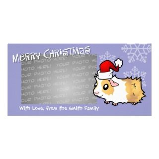Christmas Guinea Pig (cream dutch) Photo Greeting Card