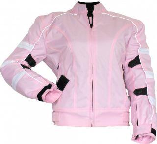 Damen Motorradjacke Biker jacke Cordura Textil Protektoren