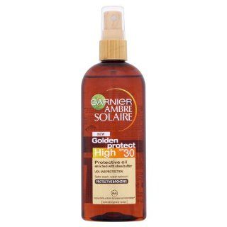 Garnier Ambre Solaire Golden Protect LSF 30 Schutz Öl mit Sheabutter