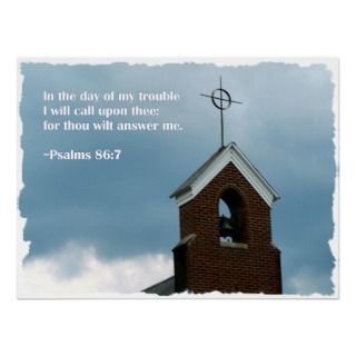 Psalms Bible Verse Steeple Christian Poster