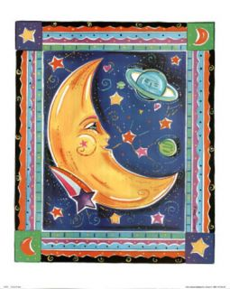 Alison M Jerry (Celestial Moon) Art Print Poster Posters