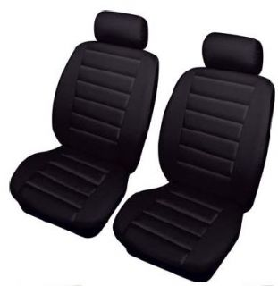 SMARTCAR SMART 01 05 Black Front Leather Look Car Seat Covers Airbag