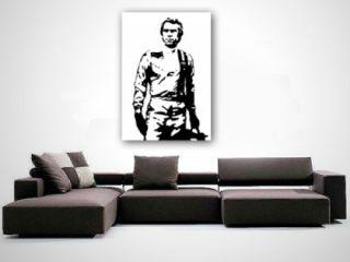 Steve McQueen RACING Gemälde Bild echt handgemalt POP ART 100x70 cm