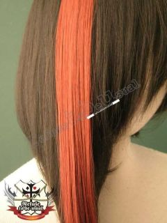 PUNK PUNK EMO CYBER HAIR EXTENSION costume 15 LAVA RED