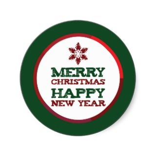 Snowflake Merry Christmas Happy New Year Sticker