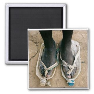 Shoes in Uganda Refrigerator Magnets