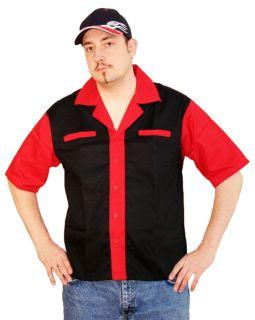 356M Bowlingshirt Workershirt Billard Dart Hot Rod M 2X SONDERPREIS