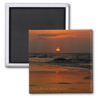 Folly Beach, SC Sunrise Refrigerator Magnet