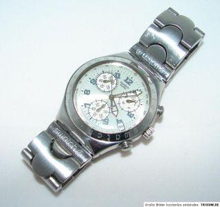 swatch Irony chrono 1999 Uhr vintage Cadmos white irony chronograph