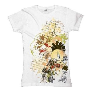 Looney Tunes   Tweety Floral, Girl T Shirt, Gr.M, NEU