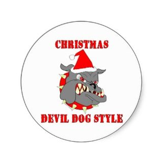 Marine Corps Christmas Devil Dog Style stickers by militarymarinecorps