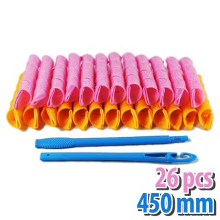New 26PCS 300MM 450MM CURL HAIR TOOLS MAGIC LEVERAGE CURLER SPIRAL