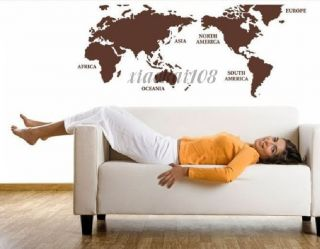 The world map DIY Removable Wall Art Deco Decal Sticker Wall Paper #48
