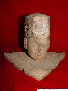 Alte burmesische Holz Skulptur Figur Statue Südostasien Asien Burmese