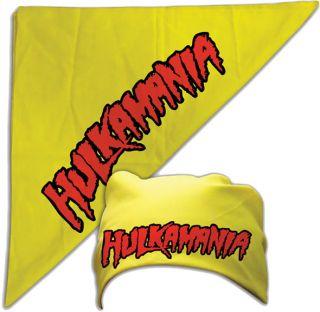 Hulk Hogan Hulkamania Yellow Bandana  New